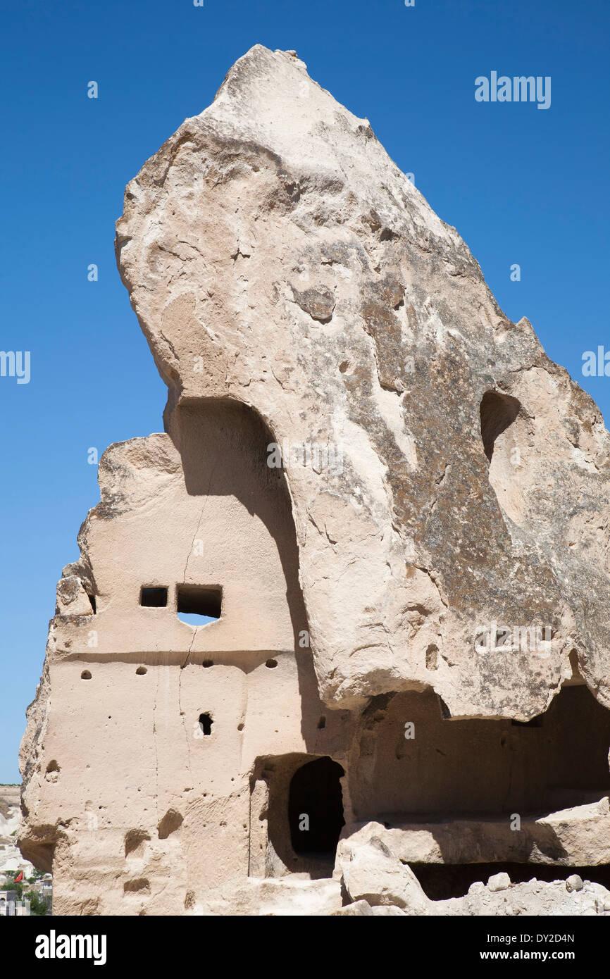 rock houses, goreme, cappadocia, anatolia, turkey, asia - Stock Image