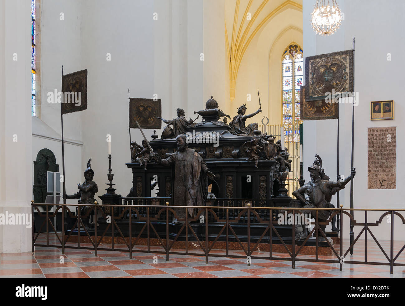 Cenotaph of Louis IV, German Roman Emperor, Cathedral of Munich, Bavaria, Germany. - Stock Image