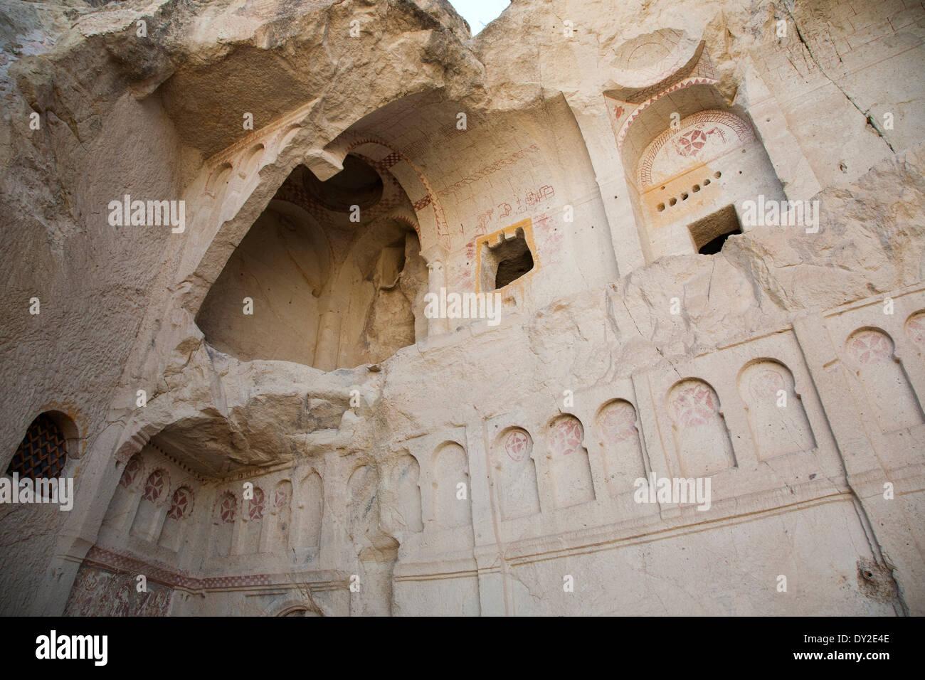 the dark church, open-air museum of goreme, cappadocia, anatolia, turkey, asia Stock Photo