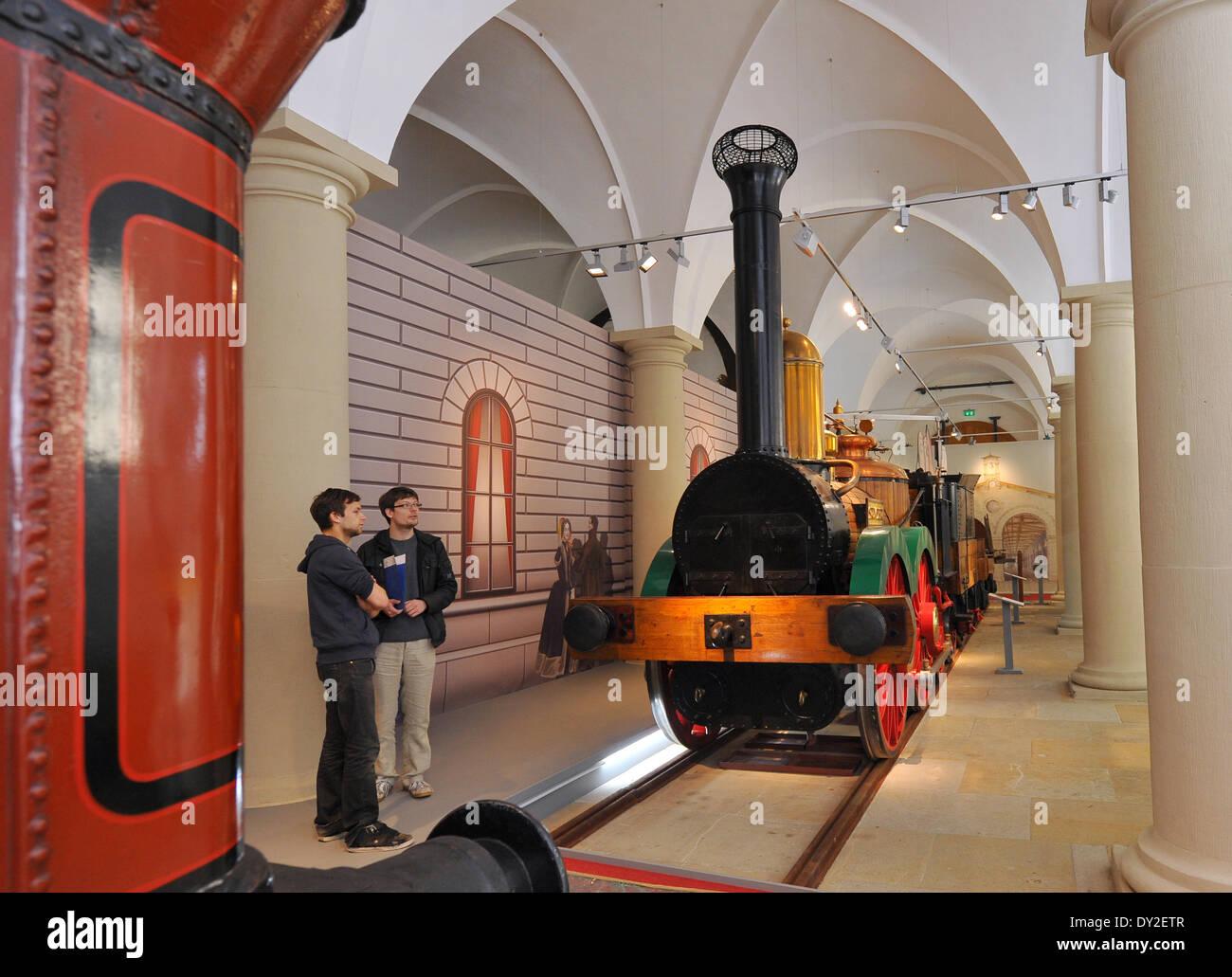 Replica first railway locomotive stock photos replica for Replica mobel deutschland