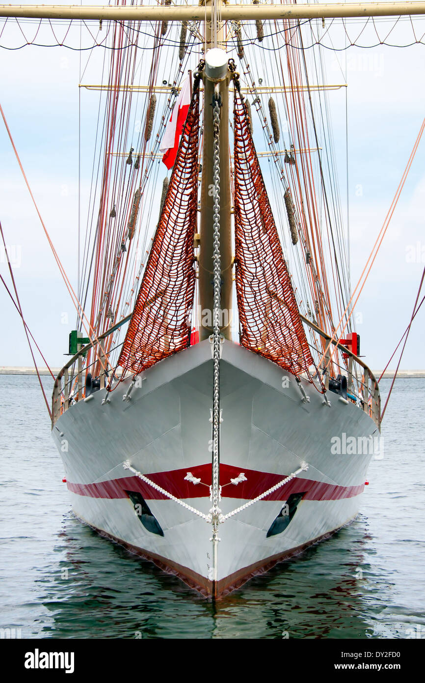 Tall ship front Stock Photo