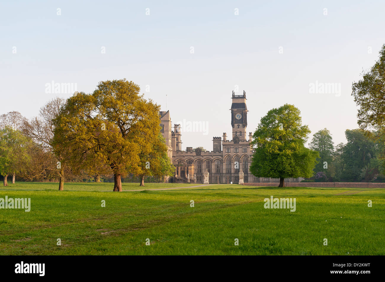Exterior facade of the imposing Carlton Towers, a 15th century stately home - Stock Image