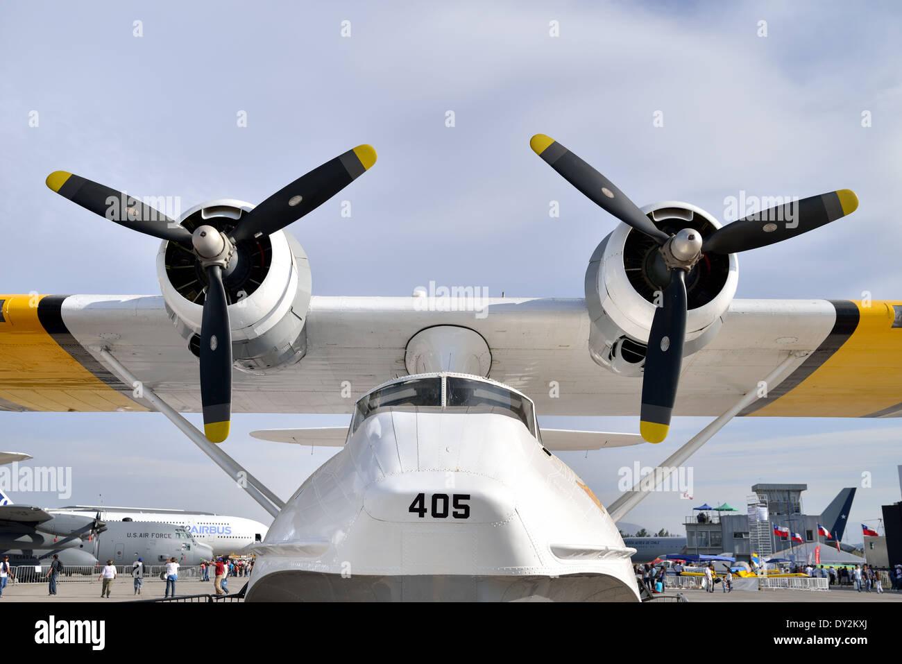 PBY Catalina flying boat FACH No. 405 called 'Manu-Tara' (Lucky Bird). - Stock Image