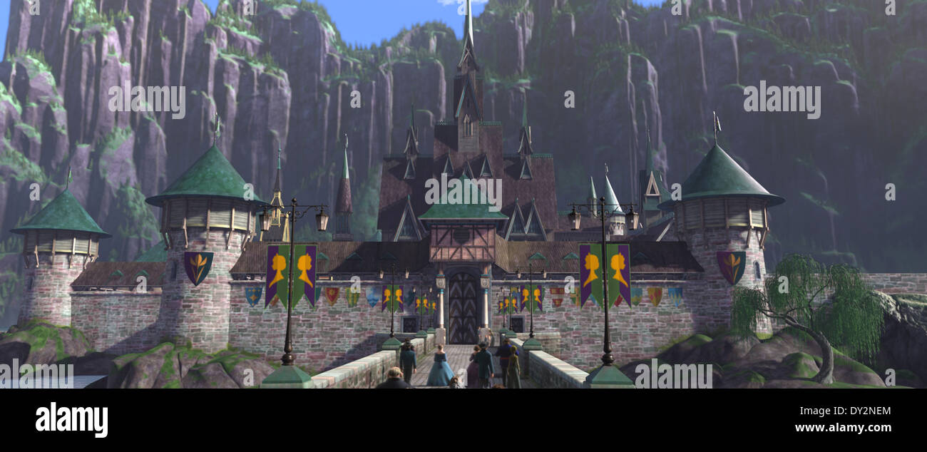 FROZEN Arendelle Castle. ?2013 Disney. All Rights Reserved. - Stock Image