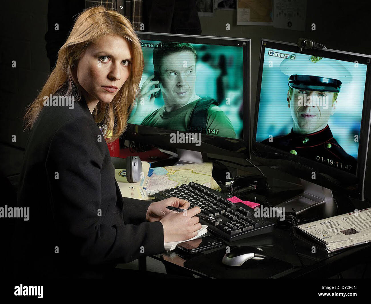 HOMELAND (TV) (2011) CLAIRE DANES, DAMIAN LEWIS MOVIESTORE COLLECTION LTD - Stock Image