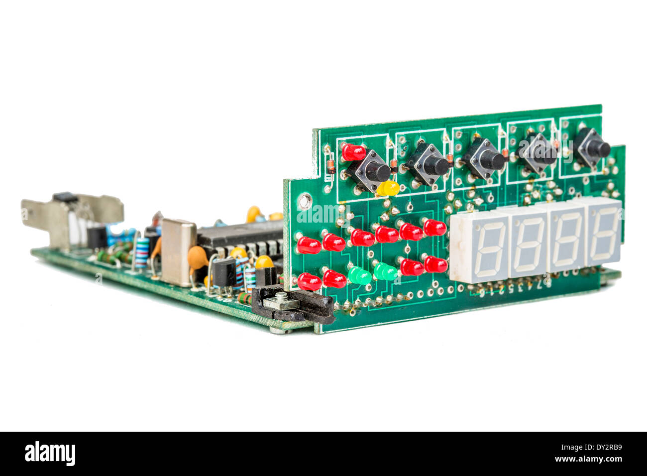 Circuit Board Components Cut Out Stock Images Pictures Alamy Remove Integrated Circuits And From Printed Boards Image