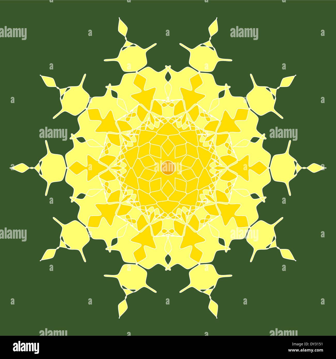 Artistic intricate mandala design pattern Stock Photo