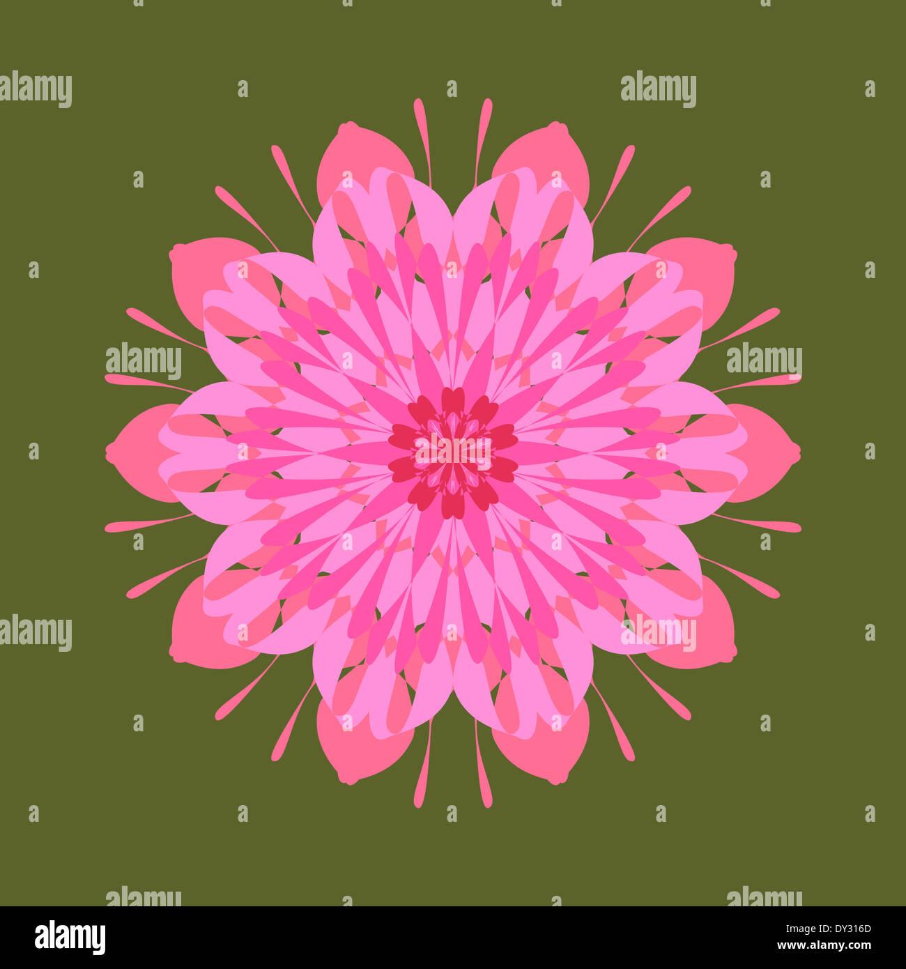 Artistic intricate mandala design pattern Stock Photo