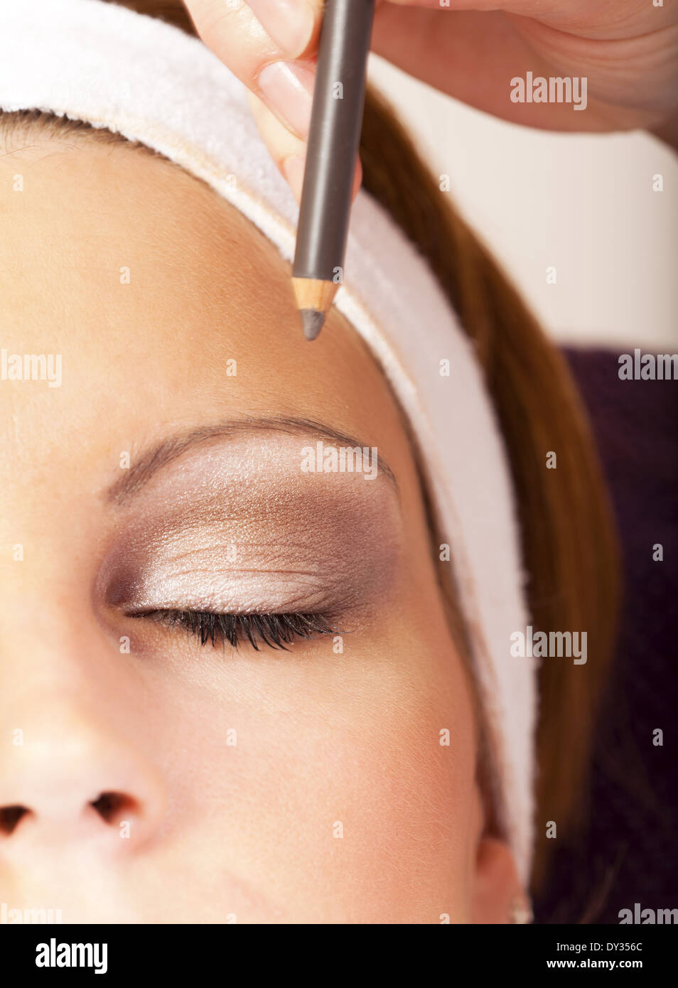 Woman Eyebrows Pencil Stock Photos Woman Eyebrows Pencil Stock