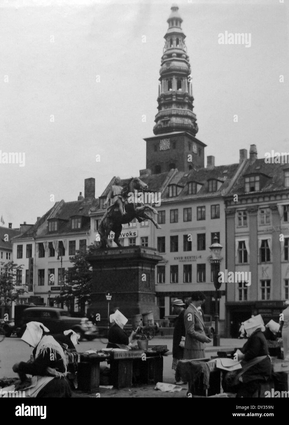 Market Copenhagen Denmark in the 1930s - Stock Image