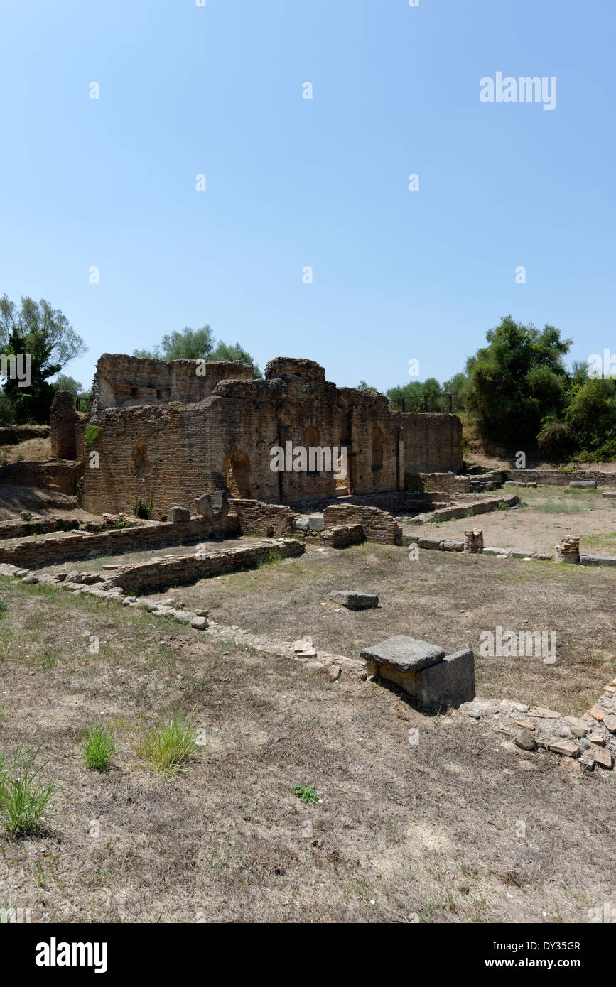 Headquarters sports club that athletics belonged to during Roman times Ancient Olympia Peloponnese Greece was built in - Stock Image