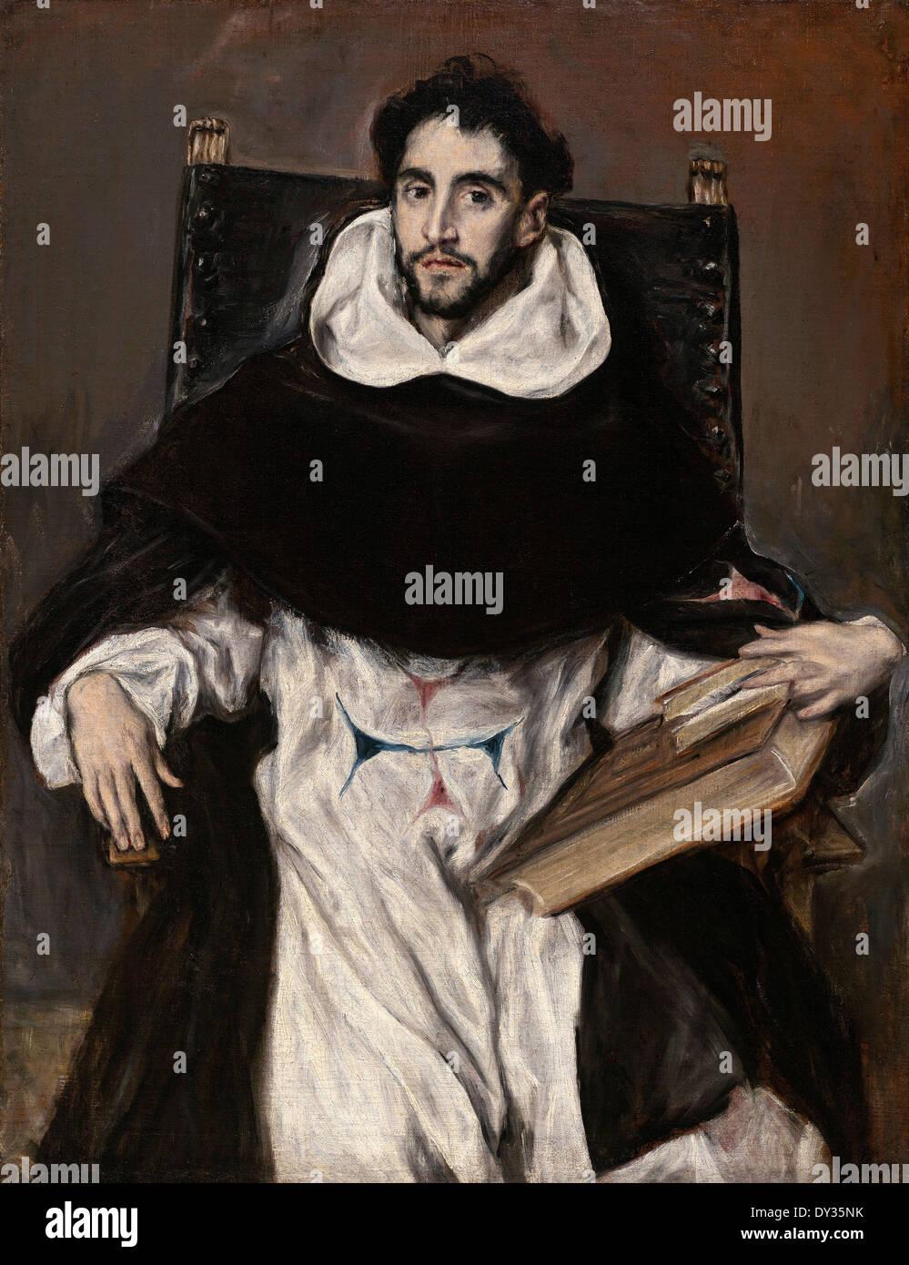 El Greco, Fray Hortensio Felix Paravicino 1609 Oil on canvas. Museum of Fine Arts Boston, USA. - Stock Image
