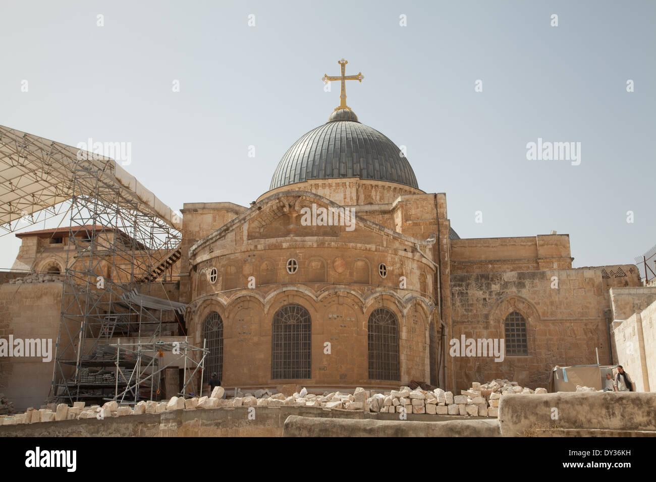 Church of the Holy Sepulchre, Jerusalem, Israel. Stock Photo