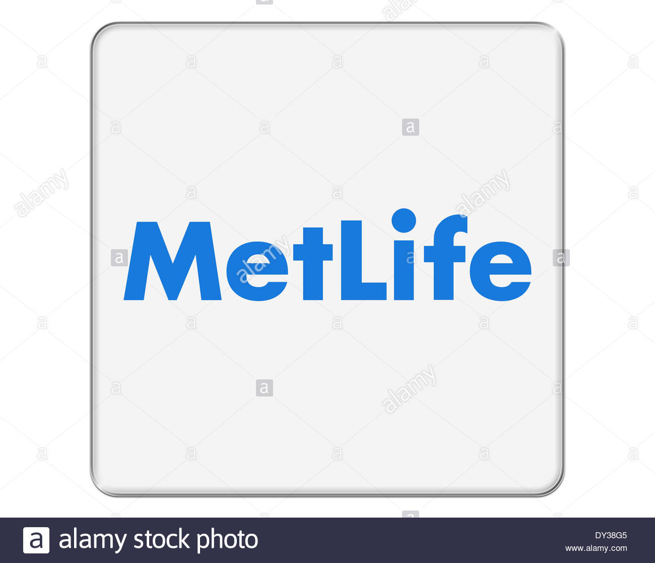 Metlife icon logo isolated path - Stock Image