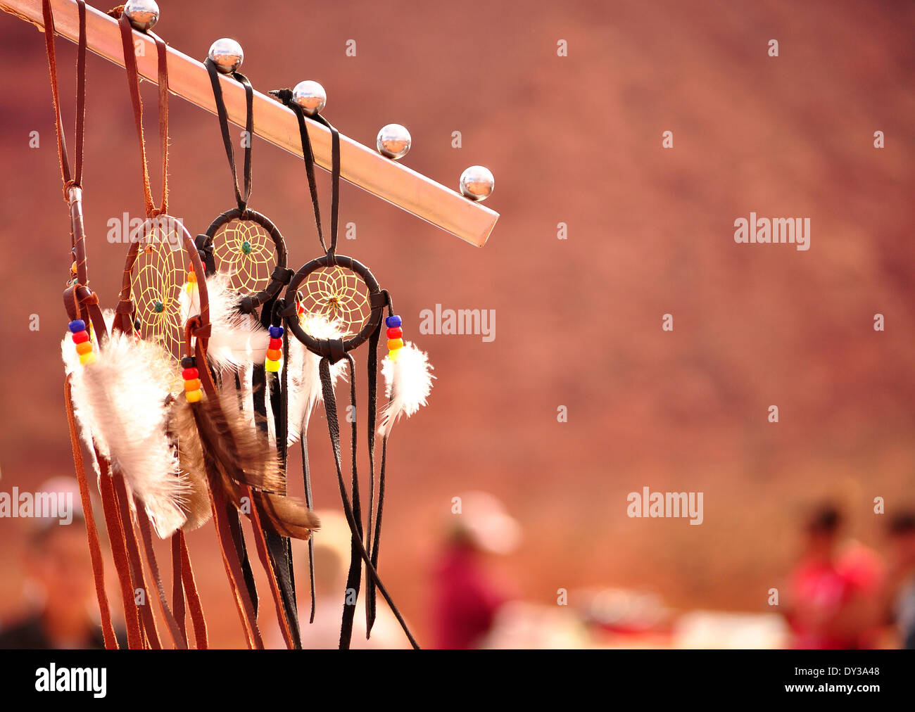 Native Navajo Dreamcatcher Monument Valley - Stock Image