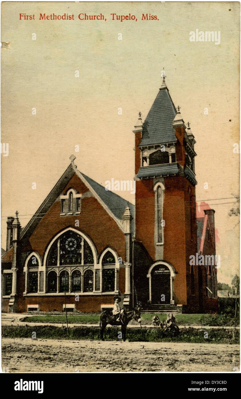 First Methodist Church, Tupelo, Miss. - Stock Image