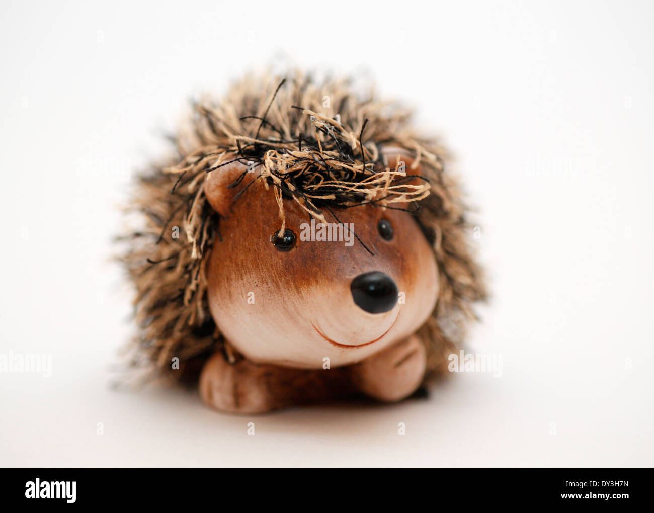A smiling hedgehog toy. - Stock Image