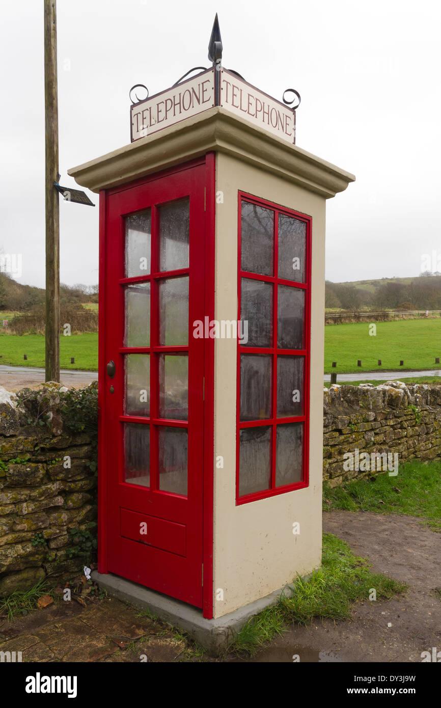 K1 telephone box, UK - Stock Image