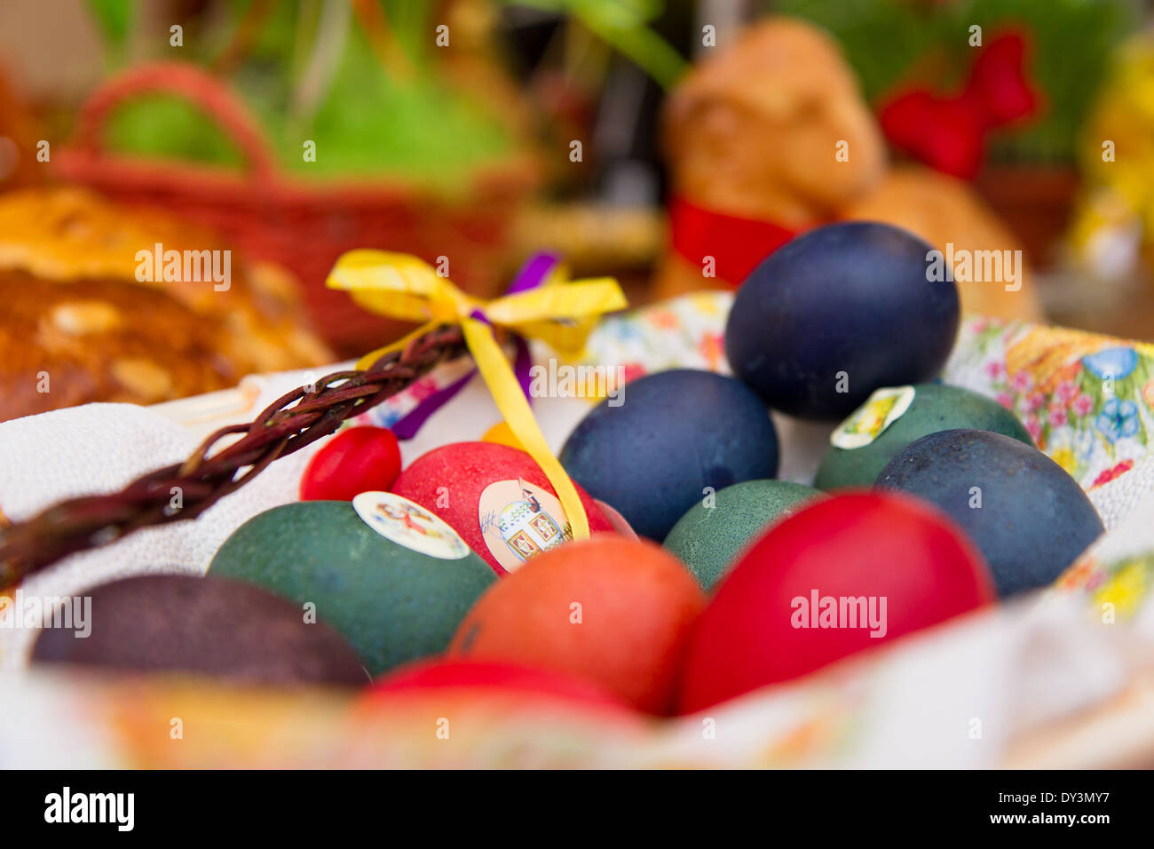 Easter holiday and decoration, czech tradition - Stock Image