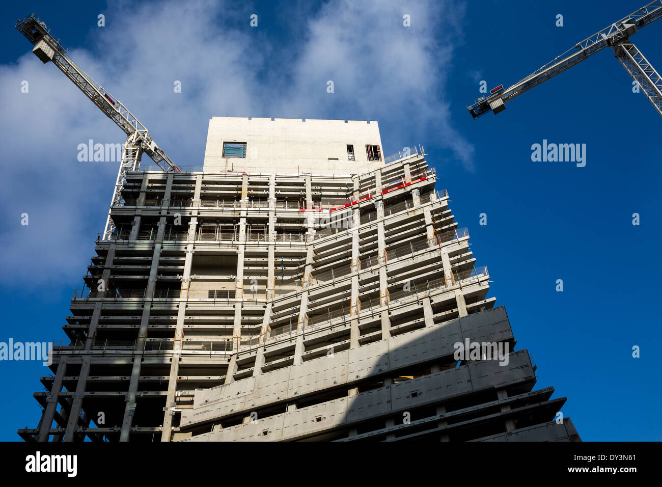 The new TATE modern building under construction. March 1, 2014. London, UK. - Stock Image
