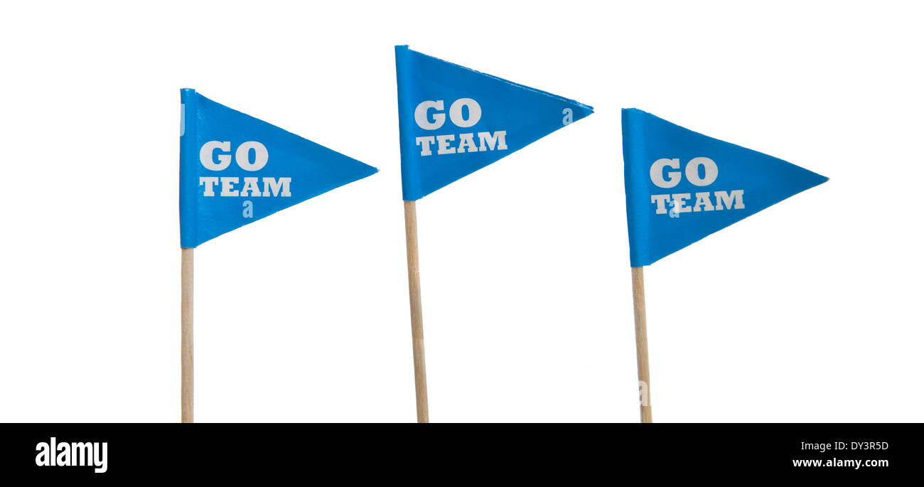 Sport pennants on a white background - Stock Image