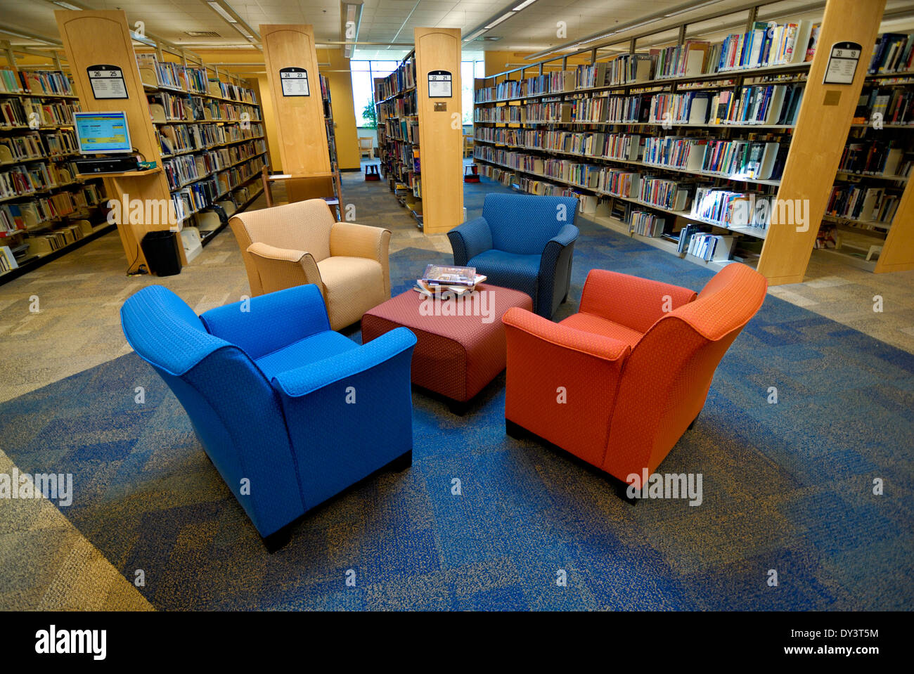 Comfortable Chairs In A Seating Area For Reading At The Northland Public  Library In Pittsburgh,