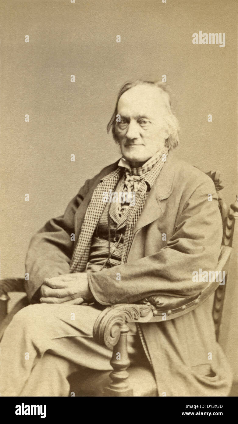Sir Richard Owen – English biologist, comparative anatomist, paleontologist, and opponent of Darwin's theory of evolution by natural selection. - Stock Image