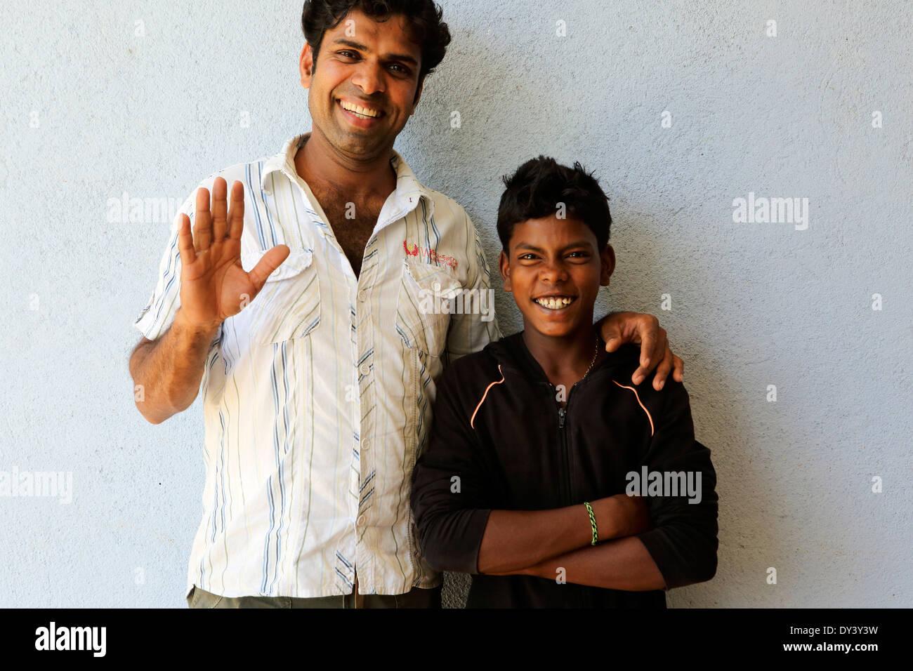 Happy Sri Lankan males - Stock Image