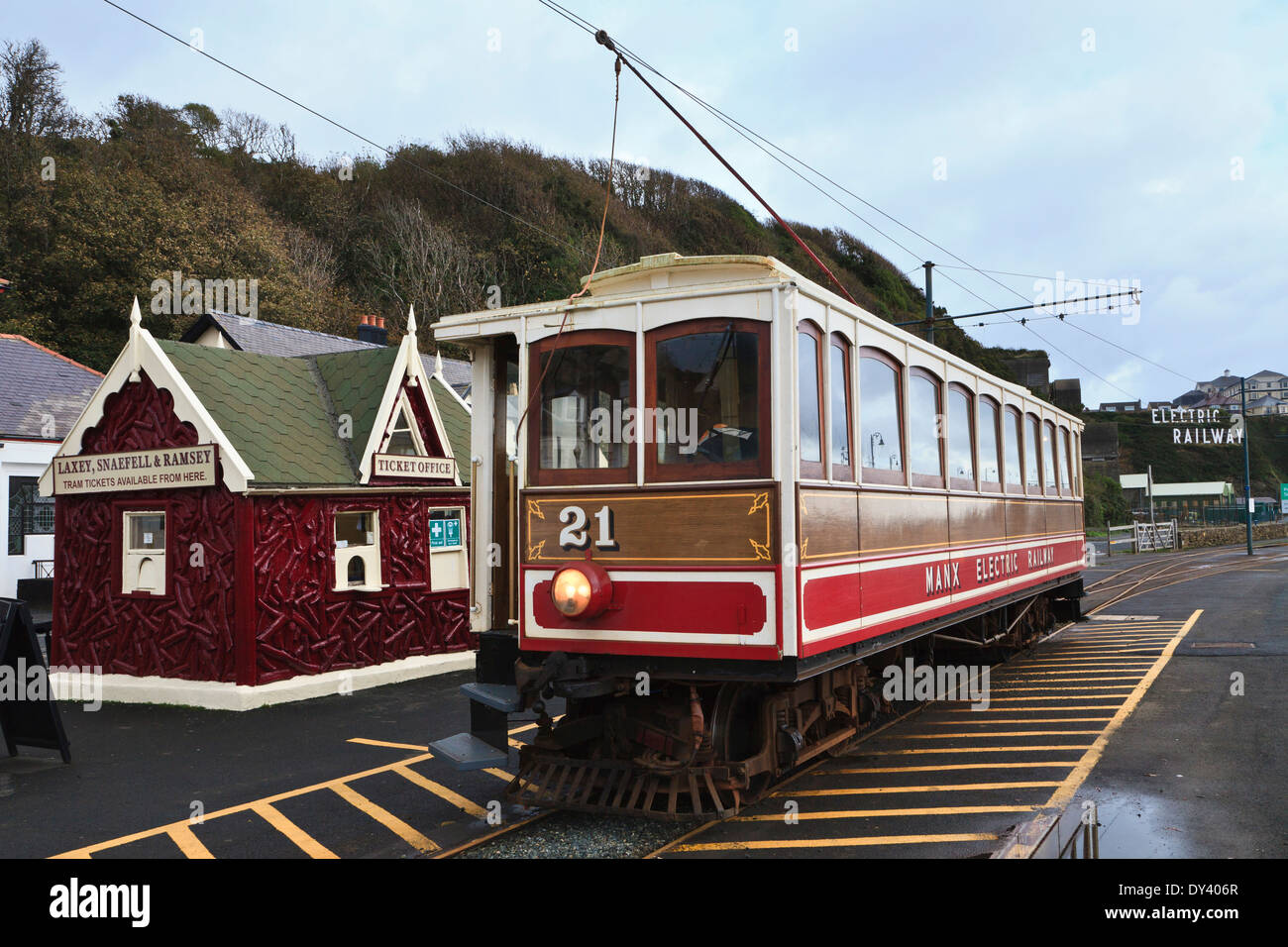 The Manx Electric Railway, Douglas, Isle of Man Stock Photo
