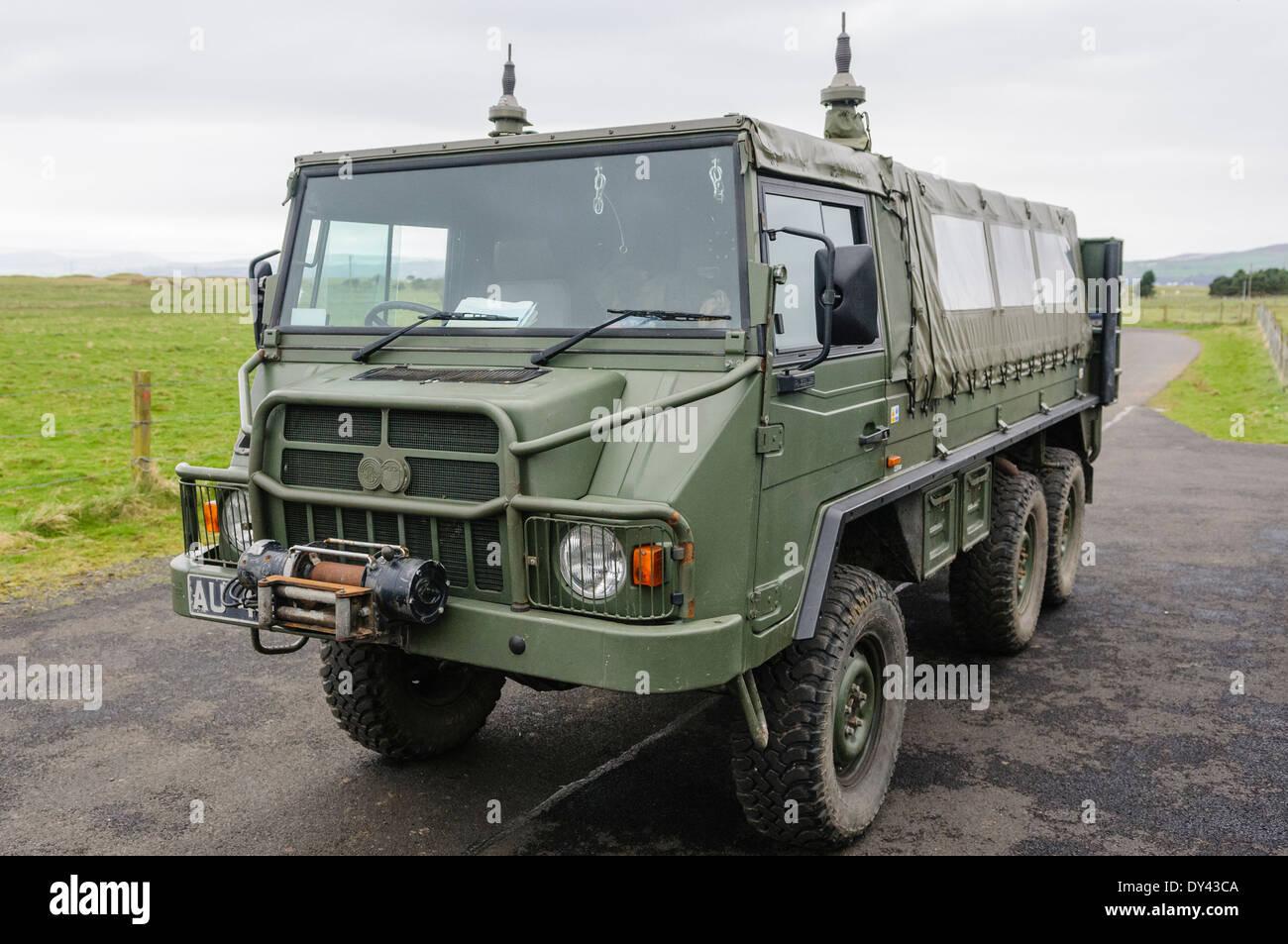 Pinzgauer 6x6 all wheel drive military vehicle - Stock Image