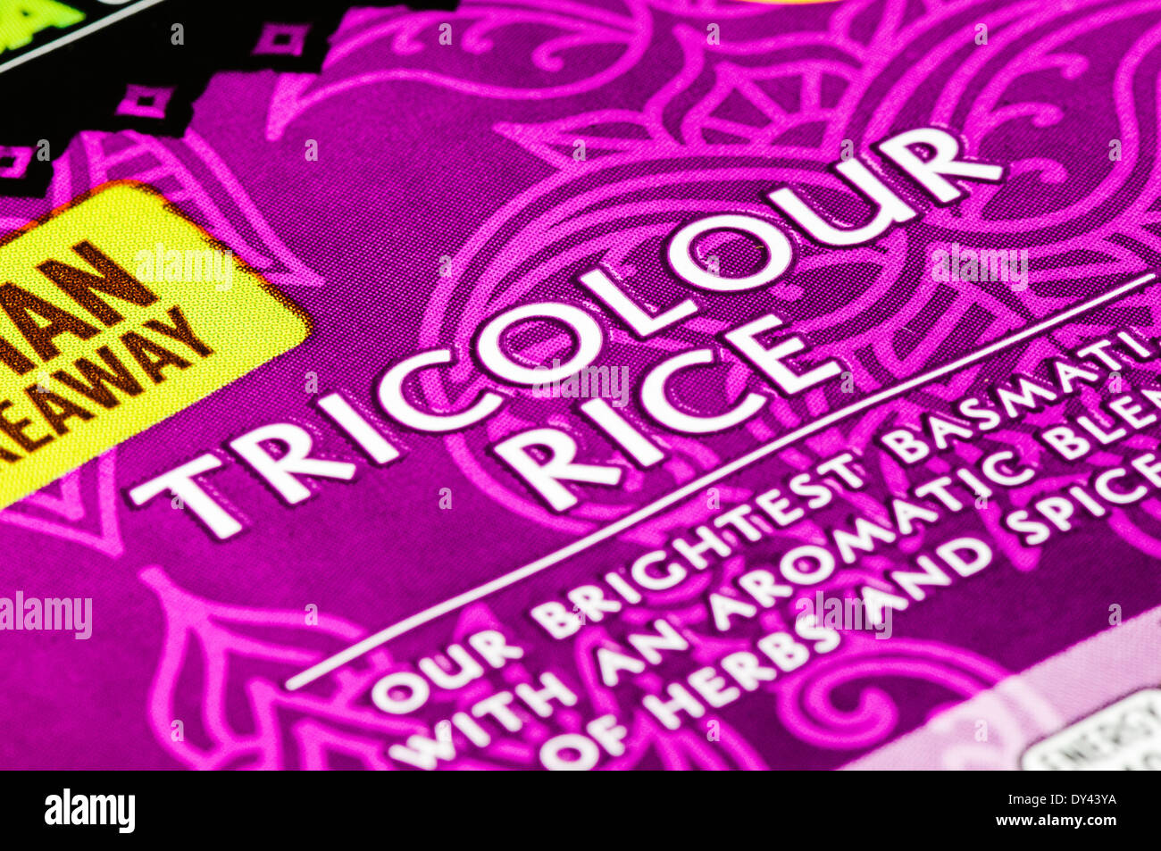 Packaging of Tricolour Rice - Stock Image