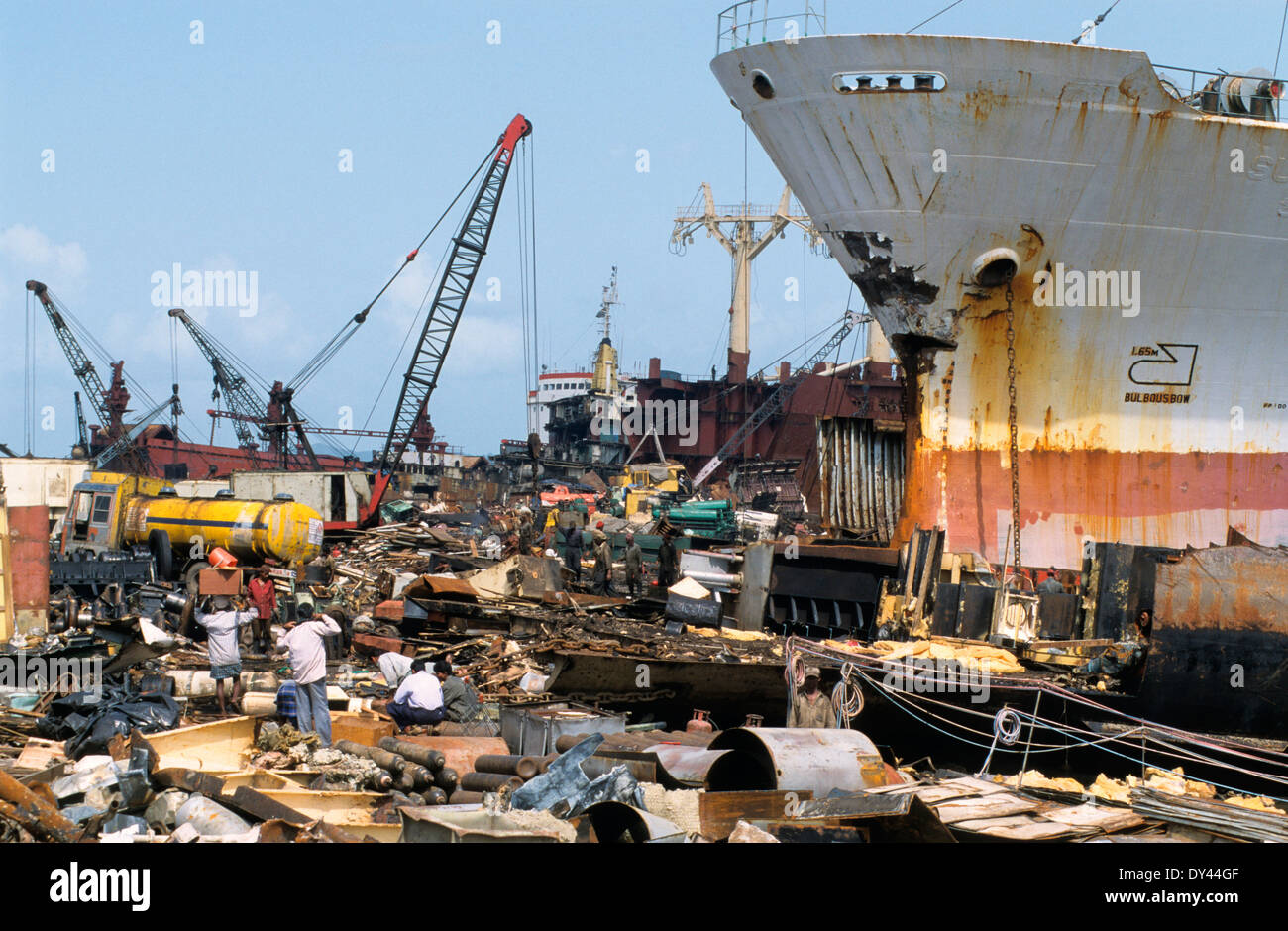 Ship Recycling India Stock Photos & Ship Recycling India Stock