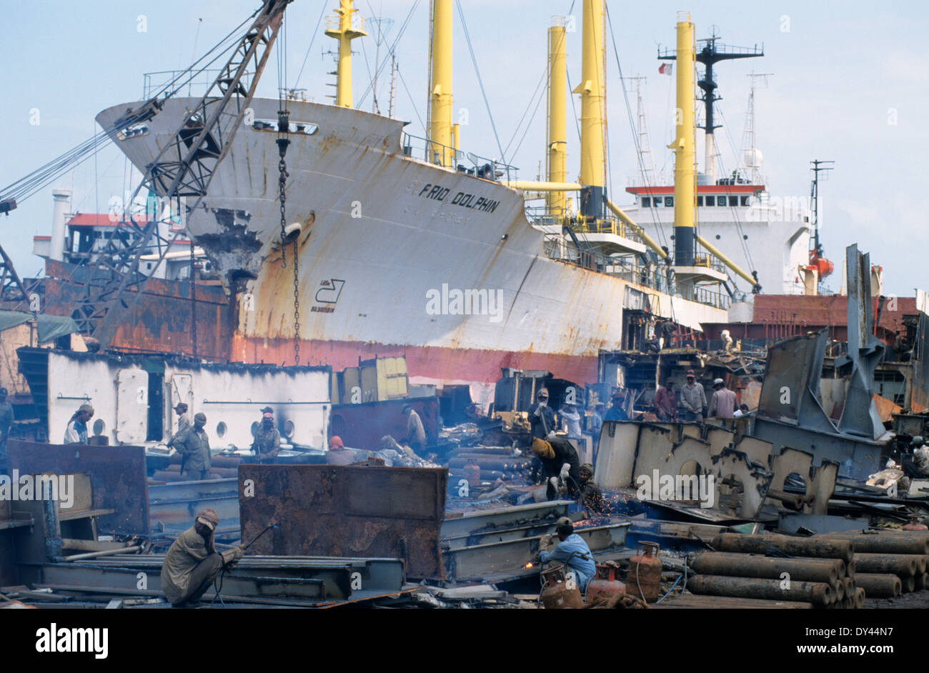 Cargo Ships Wrecking Stock Photos & Cargo Ships Wrecking Stock