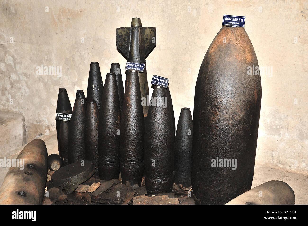 Bombs left over from Vietnam War - Stock Image