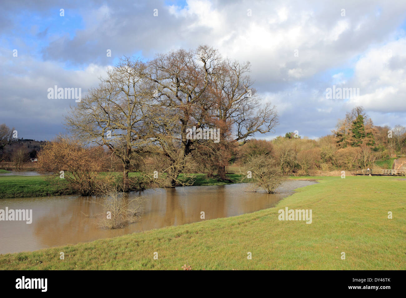 An Oxbow lake on the River Mole at Westhumble near Dorking, Surrey, England, UK - Stock Image