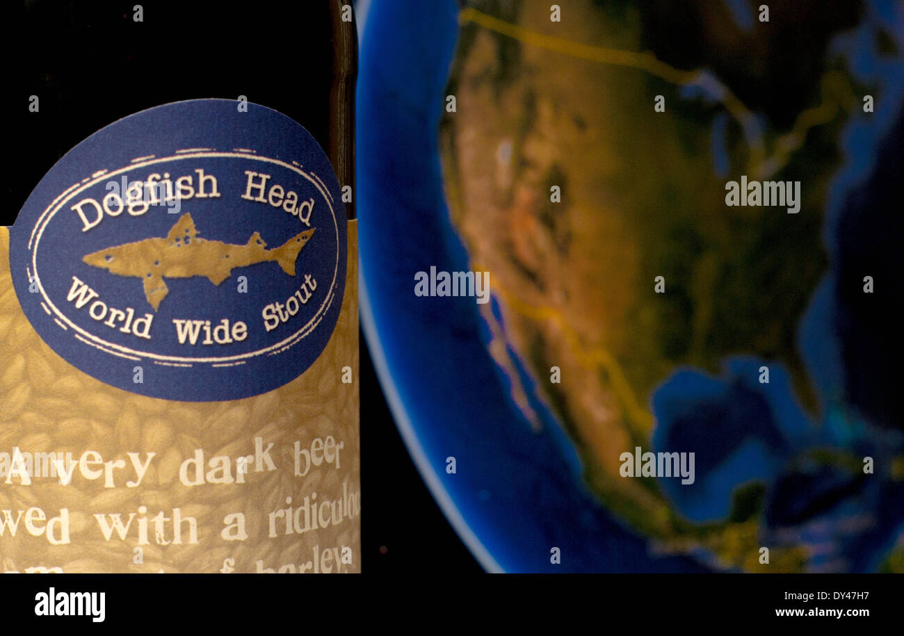 Dog Fish Head  - world wide stout - Stock Image
