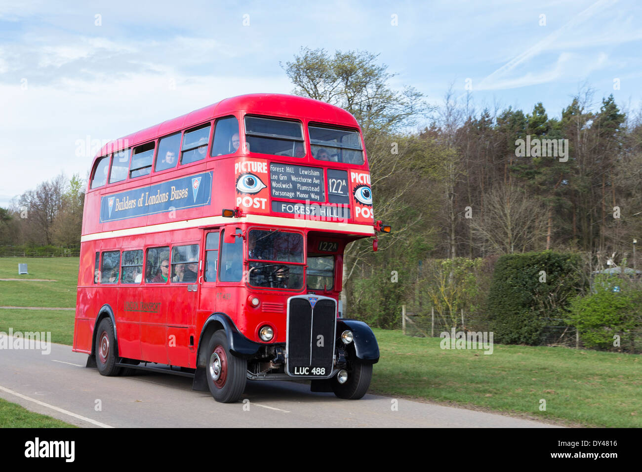 Classic Red Double Decker Routemaster Bus at Display of Heritage Vehicles - Stock Image