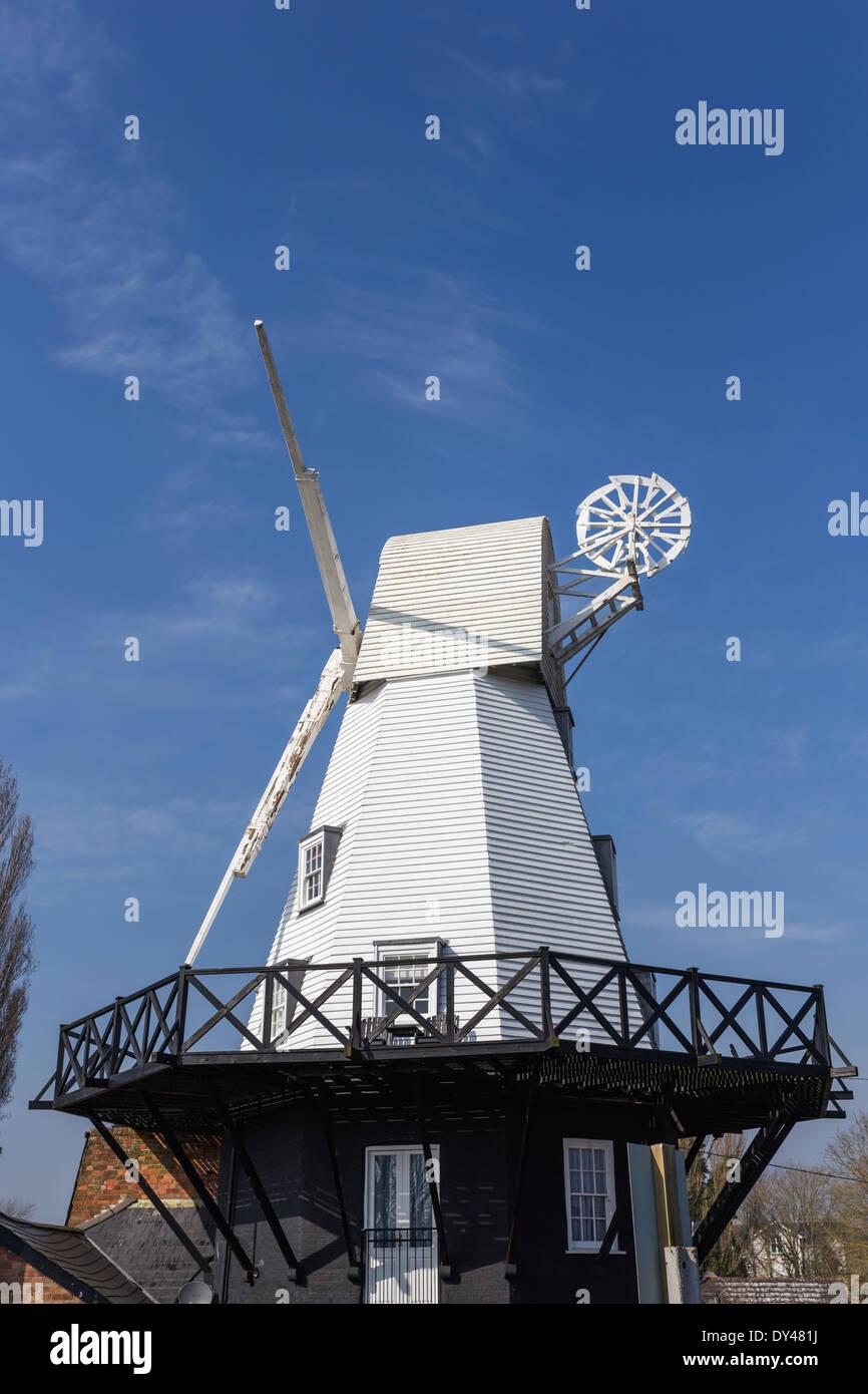 Rye Windmill now a B&B - Stock Image