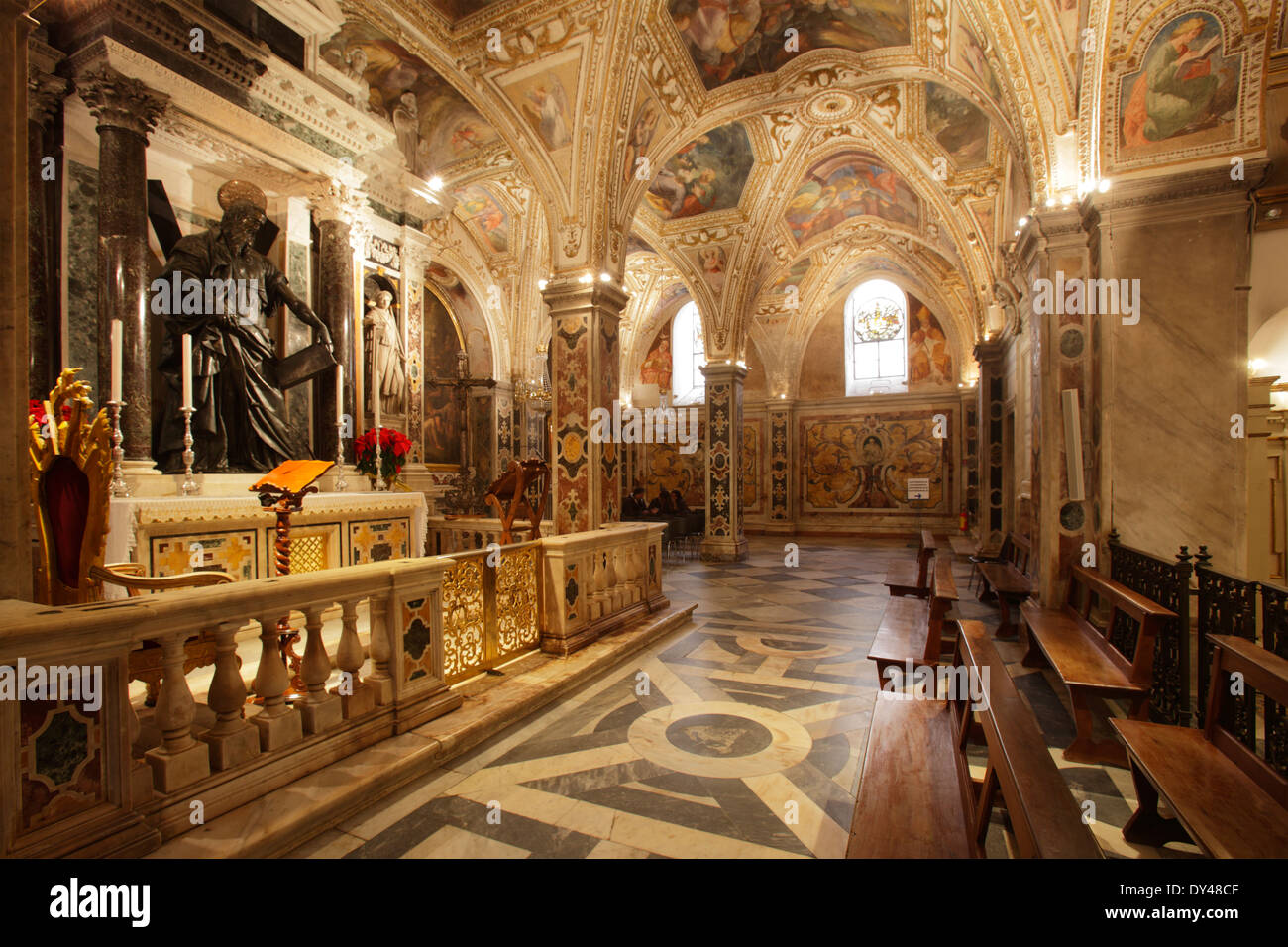 The Crypt Of St Andrew At Amalfi Cathedral Amalfi Italy