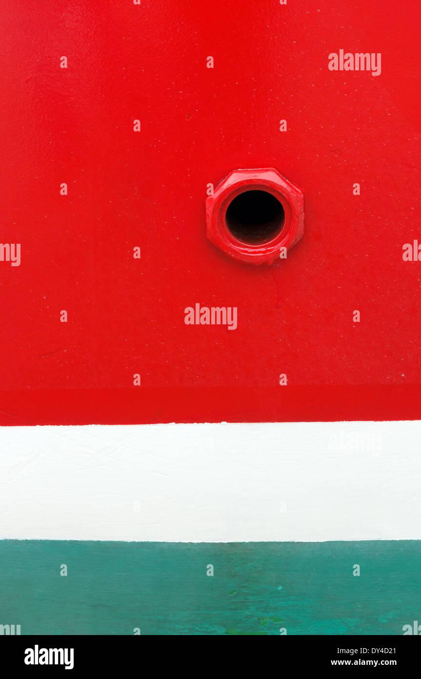 hole on nautical vessel - Stock Image