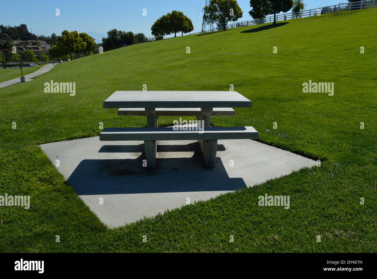 Stone Picnic Table Stock Photo Alamy - Stone picnic table