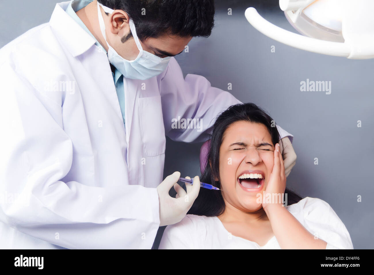 Indian Dentist Treatment Stock Photo 68326810 Alamy