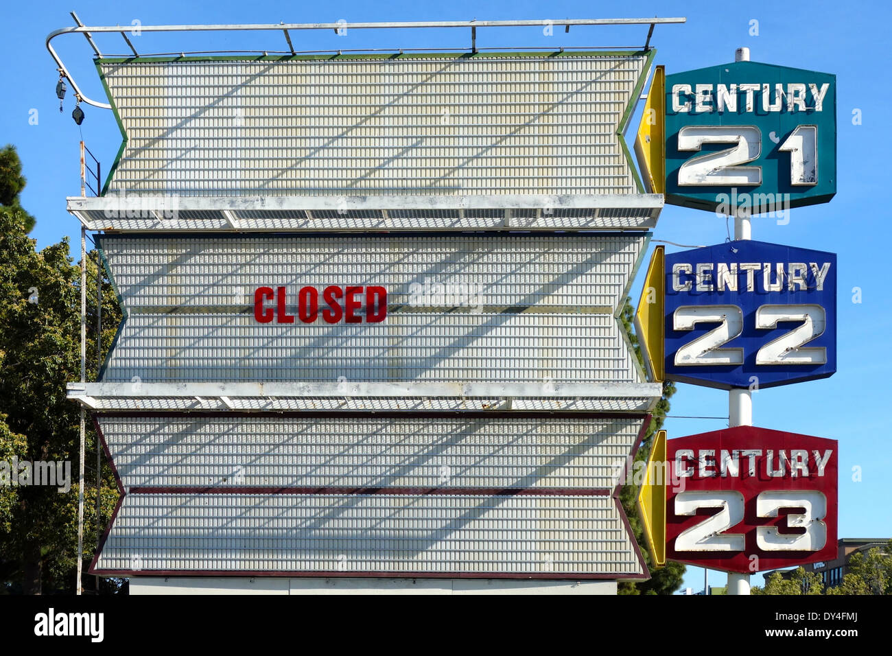 After 50 years in business, the Century Theatres in San Jose, California close. - Stock Image