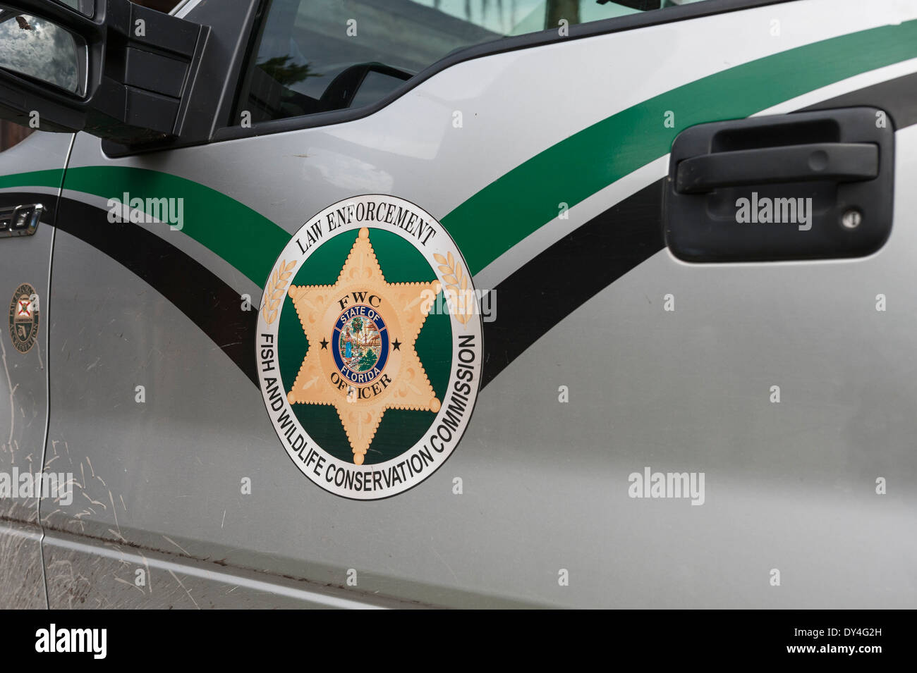 Florida Law Enforcement Fish and Wildlife Conservation Commission Vehicle Stock Photo