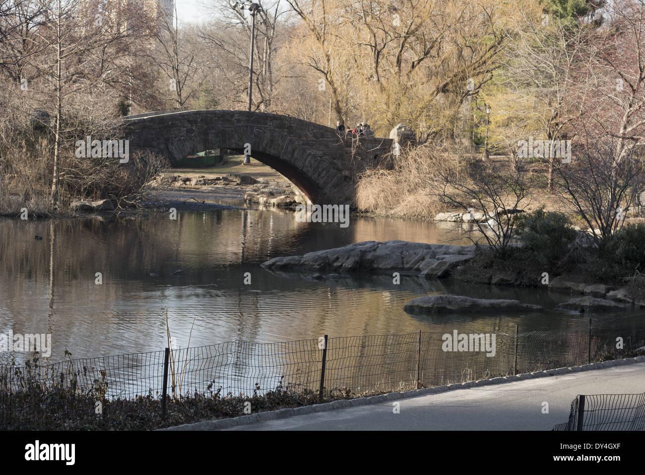 Gapstow Bridge Central Park New York NY - Stock Image