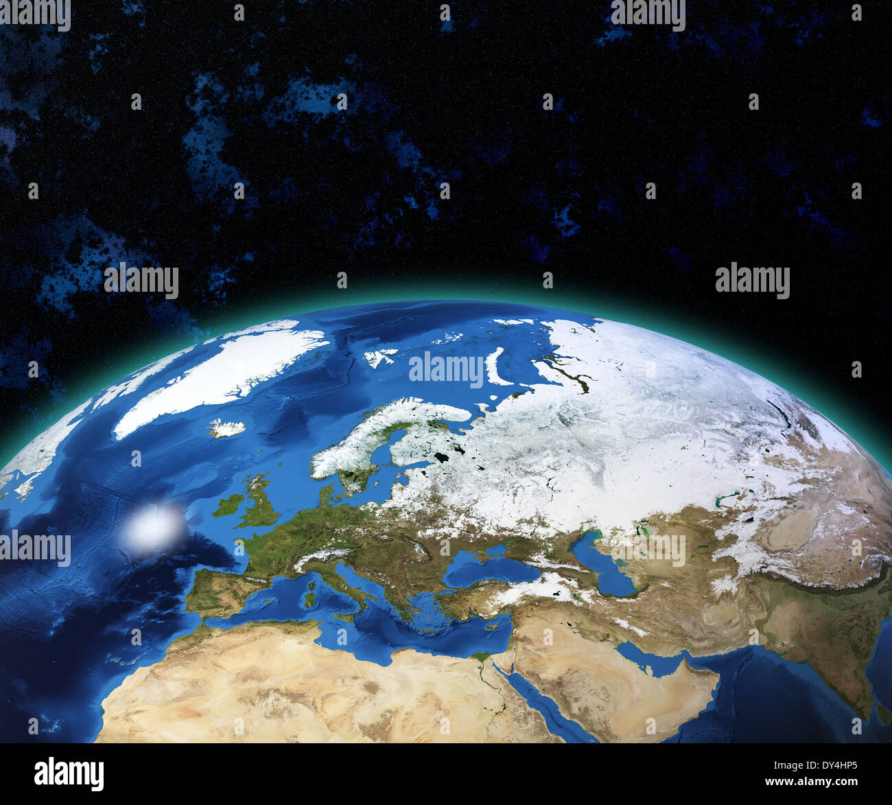 Earth globe map view of the planet from space side of the europe earth globe map view of the planet from space side of the europe and africa the earth texture of this image furnished by nasa gumiabroncs Gallery