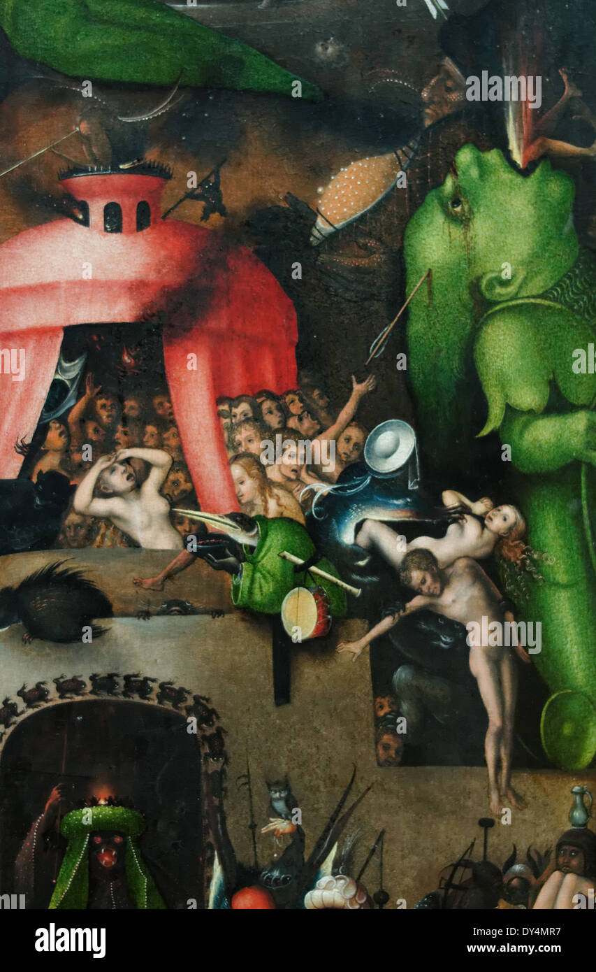Lucas Cranach - Leaf age with Judgment - Visions of Hell - Details - 1524 - XVI th Century - German School - Gemäldegalerie - Be - Stock Image