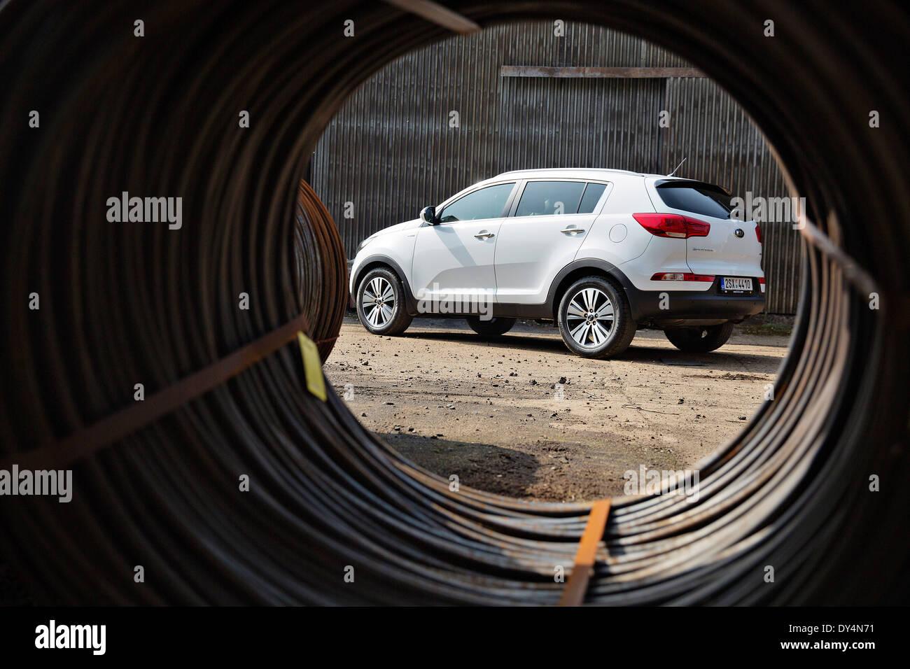 Kia Sportage, crossover, second generation - Stock Image