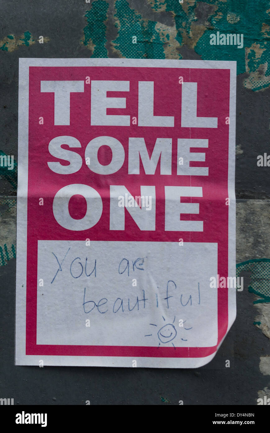 Tell someone you are beautiful - Stock Image