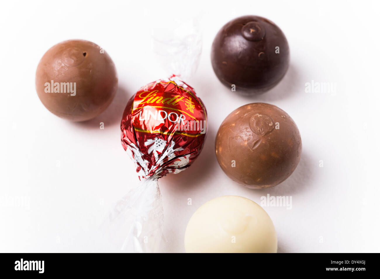 Lindt Lindor Assorted Chocolate Truffles - Stock Image